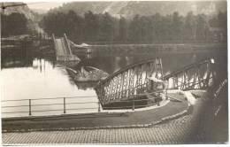 ENGIS-CARTE-PHOTO-4 AOUT 1914-1RE GUERRE-LE PONT DETRUITE-PHOTO HISTORIQUE!!!! - Engis