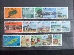 ANGUILLA 1967 VISTAS De La ISLA Yvert Nº 1 /15 ** MNH SG Nº 17 /31 ** MNH - Anguilla (1968-...)