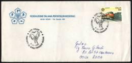 ITALIA CORGENO (VA) 1989 - CAMPIONATO DEL MONDO PENTATHLON MODERNO - BUSTA F.I.P.M. VIAGGIATA - Timbres