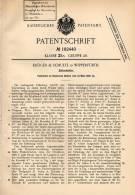 Original Patentschrift - Kröger & Schulte In Wipperfürth , 1906 , Zeitschalter !!! - Historical Documents