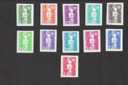 Cote 115 €  Marianne BRIAT - 2614 Et 2617 à 2626 Série NON DENTELE - SUPERBE¨¨ - 1989-96 Bicentenial Marianne