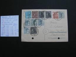 == Deutsche Post Karte 1946 Bad Homburg Butzbach Vom Sammler Bestimmt  Kl. Mängel , Gelocht - Sowjetische Zone (SBZ)