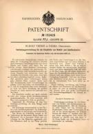 Original Patentschrift - R. Trebes In Nidda , Oberhessen , 1905 , Einzelteile Für Modell- Und Spielbaukasten , Bausteine - Architektur