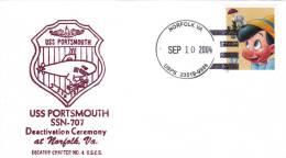 SUBMARINE,SOUS-MARINS ATOMIC,USS PORTSMOUTH SSN-707 DEACTIVATION CEREMONY AT NORFOLK VA. 2004 USA. - Submarines