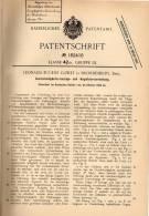 Original Patentschrift - L. Cowey In Brondesbury , 1905 , Tachometer , Tacho Für Automobile , Motorrad  !!! - Motorräder
