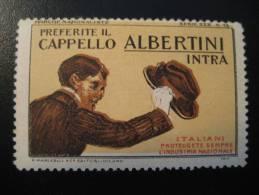ITALY 1917 Hat Chapeau Capello Sombrero Albertini Fashion Mode Moda Textil Textile Vignette Poster Stamp Label Vi&ntilde - Tessili