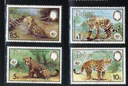 (004) Belize  Animals / Wild Cats / Chats Sauvages / Raubkatzen / WWF   ** / Mnh  Michel 719-22 - Belize (1973-...)