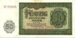 GERMANY WEST 50 MARK GREEN MOTIF FRONT & BACK  DATED 1948 VF P14a READ DESCRIPTION !! - [ 5] 1945-1949 : Occupazione Degli Alleati