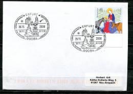 "Germany 2008 Sonderbeleg,Postal Cover Crismas  M. Mi.Nr.2627 ""99084 Erfurt-Weihnachtsmarkt ""1Beleg - Weihnachten"