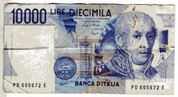 BILLET ITALIE - P.112 - 10000 LIRE - 1984 - ALESSANDRO VOLTA - MAUSOLEE - YEUX NOIRS - [ 2] 1946-… : République