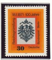 1971 Germany Berlin Complete MNH Founding Of The Reich Set Of 1 Stamp Michel # 385 - [5] Berlin