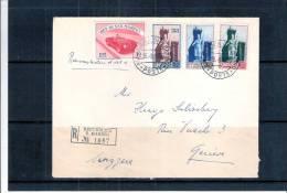 Lettre Recommandée De San Marino Vers Suisse - 1956 (à Voir) - Lettres & Documents