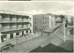 TORRE ANNUNZIATA, NAPOLI, VIA DEGLI UFFICI, B/N VIAGGIATA   1959, ANIMATA E AUTOD'EPOCA, - Torre Annunziata
