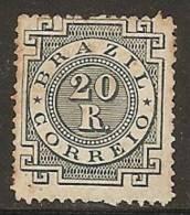Brésil 1884 - 20r Neuf Sans Gomme (unused) - Sc#87 Cote 30$ - Non Classés