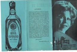 PROGRAMA DEL CAFE CONCERT MI PAIS MAR DEL PLATA TEMPORADA 1978 NELLY VAZUQUEZ EXIMIA CANTANTE DE TANGO ARGENTINA  OHL - Programmes