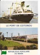 CSPM Couleur BENIN ( DAHOMEY): République Populaire Du Bénin:le Port De   COTONOU Et Bateau GANVIE - Benin