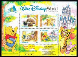 Canada MNH Scott #1621b Souvenir Sheet Of 4 45c Winnie The Pooh - Disney