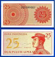 Indonesie 25 Sen 1964 Neuf Indonesia Uncirculated Militaire Military UNC Non Circulé Skrill Paypal OK - Indonesia