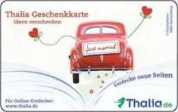 Germany - Allemagne - Thalia  Just Married Car - Carte Cadeau - Carta Regalo - Gift Card - Geschenkkarte - Treuekarten