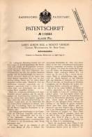 Original Patentschrift - J. Hill In Mount Vernon , Westchester , 1899 , Aufzwickmaschine !!! - Tools