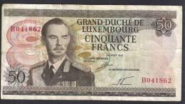 LUSSEMBURGO (LUXEMBOURG) : 50 Francs - 1972 -VF (SN : B041862) - Lussemburgo