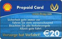 Germany - Allemagne - Shell DVAG -  Petrol Station - Carte Cadeau - Carta Regalo - Gift Card - Geschenkkarte - Frankreich