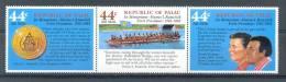 Mrx045 PRESIDENT REMELIIK AND RONALD REAGAN BOOT BOAT COIN MUNT  PALAU 1986 PF/MNH - Palau
