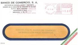 MEXICO. METER SLOGAN BANCO DE COMERCIO. BANK. 1968 - Sellos