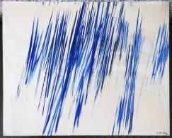 Grand Tableau Peinture Moderne 200x160cms Signé Henriquez 88 Art Toile - Acrilici