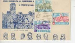 EMISION CONMEMORATIVA DEL SESQUICENTENARIO DE LA REVOLUCION DE MAYO  FDC SPECIAL COVERS  SOBRE FDC  OHL - Uruguay