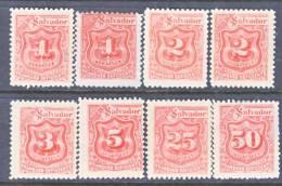 El Salvador  J 9+  Reprints .  * - El Salvador