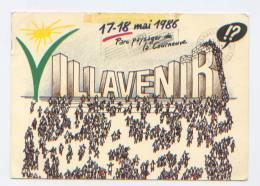 Jeunesse Ouvrière Chrétienne (JOC), 17-18 Mai 1986, Parc Paysager De La Courneuve (Seine Saint Denis) Villavenir - Manifestazioni