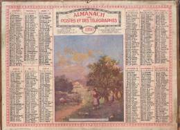ALMANACH DES PTT 1930 - COMPLET DE LA DROME AVEC CARTE. - Calendars