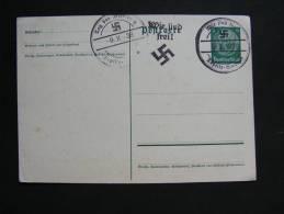 == Karte Teplitz Teplice  1938  Hitlerzeit  Wir Sind Frei Stempel  * - Böhmen Und Mähren