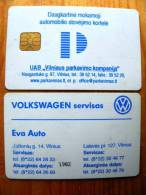 PARKING Card Carte Karte From LITHUANIA Lituanie Litauen. Chip, Old And Rare, Eva Auto Volkswagen - Unclassified