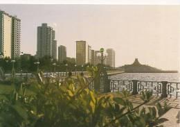Cpsm-cpm  Bon Etat ,     Dubai  , A View From Abu Dhabi Cornish , Courrier Au Verso - Dubai