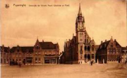 Poperinghe                Oostzijde Der Groole Markt ( Stadhuis En Post )     . - Belgique