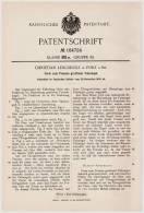 Original Patentschrift - Ch. Lengsholz In Porz - Köln A. Rh., 1905 , Form Für Falzziegel , Dachziegel , Dachdecker !!! - Architektur