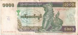 BILLETE DE MYANMAR DE 1000 KYATS  (BANKNOTE) - Myanmar
