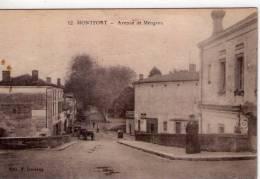 """Montfort-en-Chalosse..animée..avenue De Meugron..attelages..pub """"Picon""""..""""Chocolat Menier"""" - Montfort En Chalosse"""