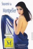 CPM PARFUM SOUVENIR DE MONTPELLIER FEMME A MOITIE NUE PUB PHOTO MURCIANO - Montpellier