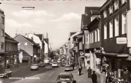 GEVELSBERG, Mittelstraße, Belebte Strassenansicht, Alte Autos, Nicht Gelaufen 1956, Sehr Gute Erhaltung - Gevelsberg
