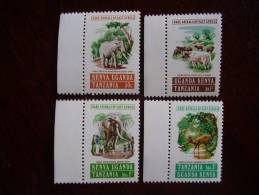 KUT 1975 RARE ANIMALS FULL SET 4 Values To 3/- MNH. - Kenya, Uganda & Tanzania