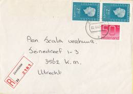 Nederland - Aangetekend/Recommandé Brief Vertrek Zaandam - Aantekenstrookje 2181 - Poststempel