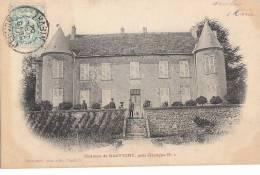 58  RAFFIGNY Près De GACOGNE  Hommes Sur La Terrasse Du CHATEAU En 1904 - Francia