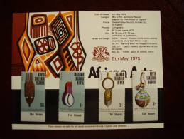 KUT 1975 AFRICA ARTS  Issue 4 Values To 3/-  MNH With PRESENTATION CARD. - Kenya, Uganda & Tanganyika