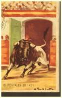10 Cartes  De  CORRIDA   Taureau  Taureaumachie   ILLUSTRATEUR LEVIN - Corrida