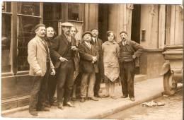 """"""" Dax. Groupe De Personnes Devant Un Bistrot. Rue A Situer. - Dax"""