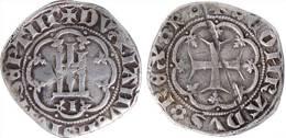 """[DO] GENOVA - Antoniotto Adorno """"Doge 7"""" (1378)   GROSSO (Argento / Argent) - Regional Coins"""
