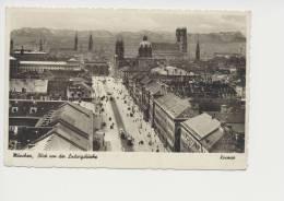 M�nchen Blick von der Ludwigskirche Feldpost 1941 Briefstempel